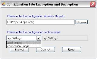 decrypt file in memory c#