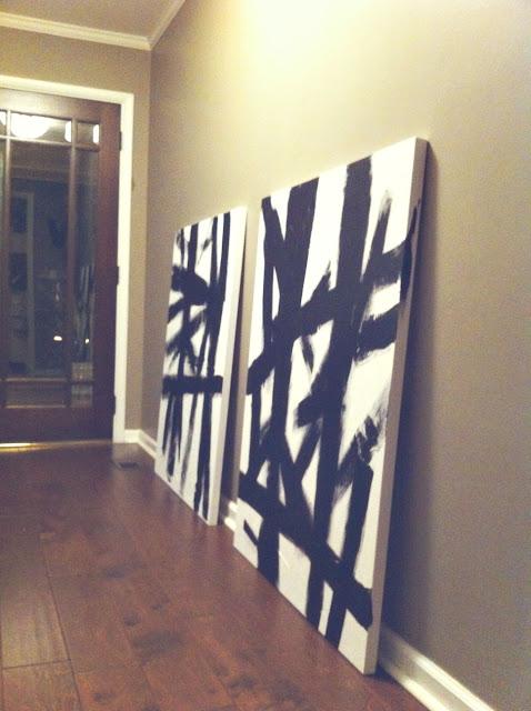 Diy cheap wall art for Diy canvas art black and white