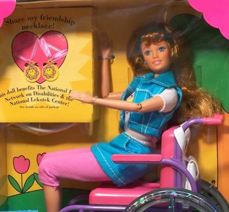 Barbie's wheelchair-bound friend