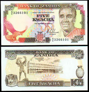 Zambia - 5 Kwacha 1989 - Pick 30