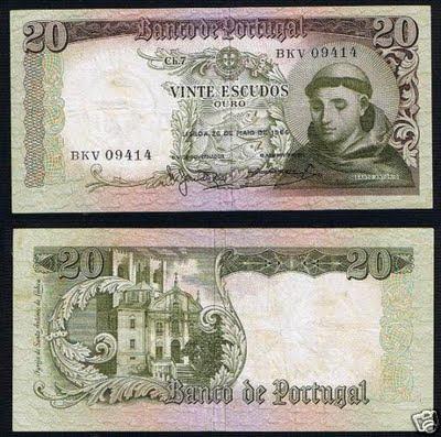 Portugal 20 Escudos 26-05-1964