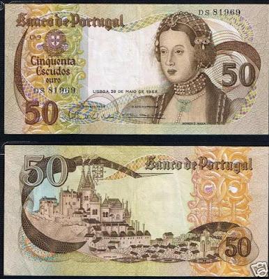 Portugal 50 Escudos 28-05-1968
