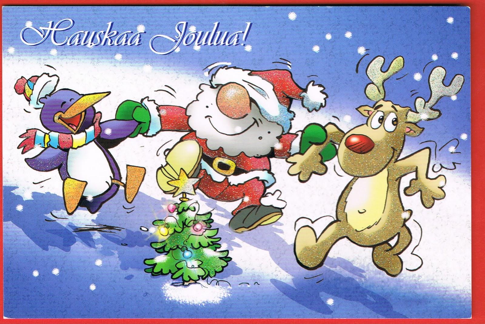 Marklaros world postcards december 2010 finland santa claus cartoon card m4hsunfo