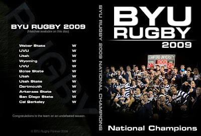 BYU Rugby 2009 Highlight Video cover art by Ben Thompson