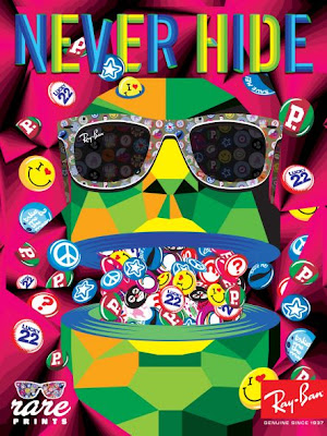 Publicidad anuncios advertisign Never Hide, de Ray Ban