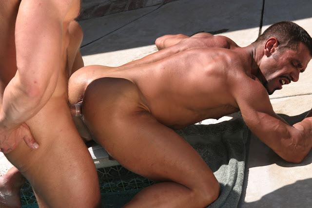 Gay man having sex with man