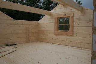 helsinki log cabin instalation