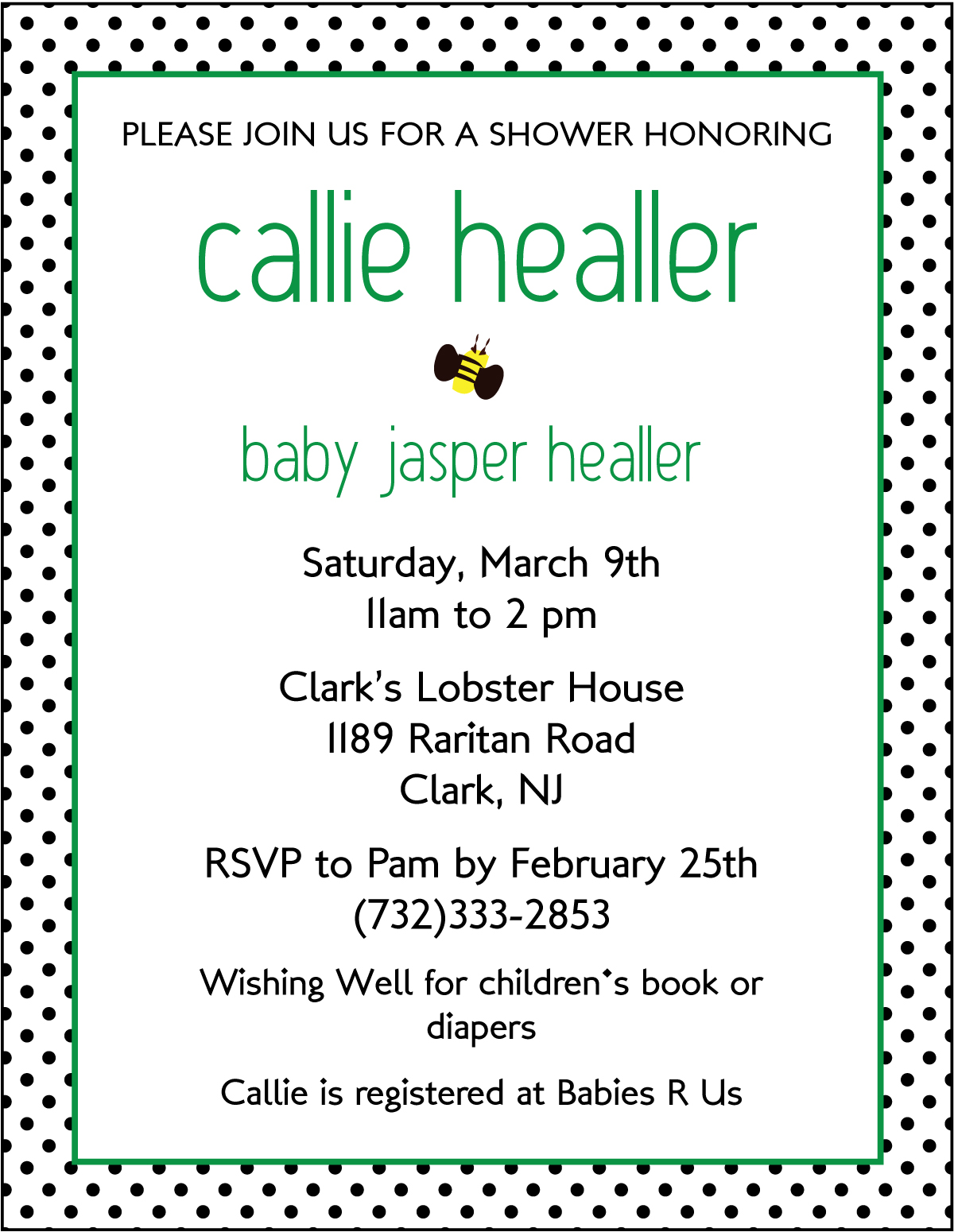 paper etiquette baby shower invitations