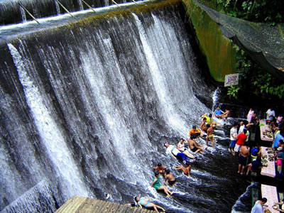 My dream restaurant in the river below a waterfall villa for Villa escudero resort with the waterfalls restaurant in philippines