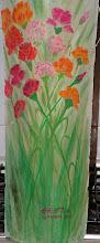 """Garofani. Coppo floreale, """"il retro del coppo"""" tulipani in vaso"""