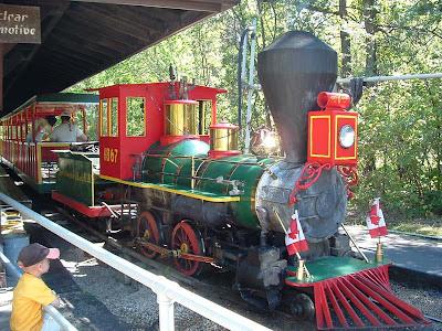 Assiniboine Park Miniature Steam Locomotive - located in Winnipeg Manitoba Canada