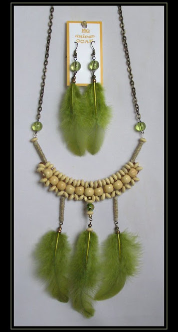 Olive Green Necklace and Earrings