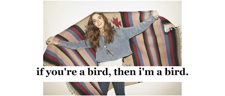 if you're a bird, then i'm a bird
