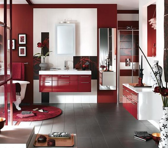 Ultra Stylish and Sleek Bathroom interior