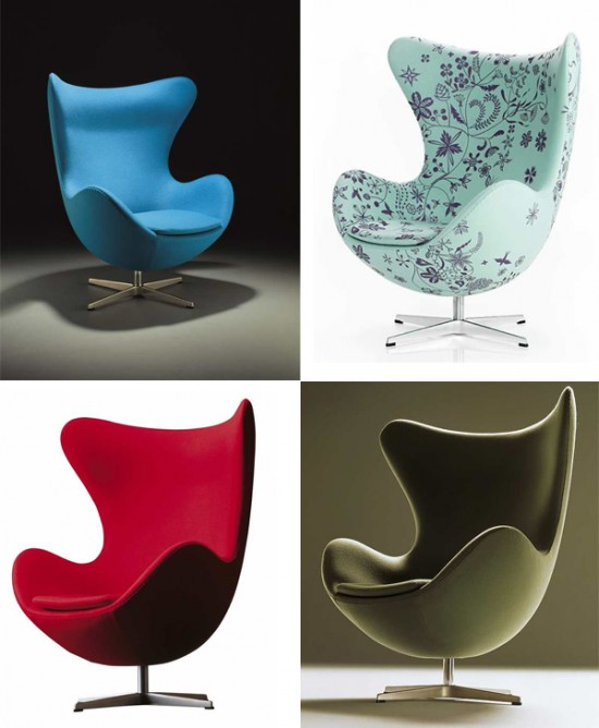 Design Modern Iconic Egg Chair room