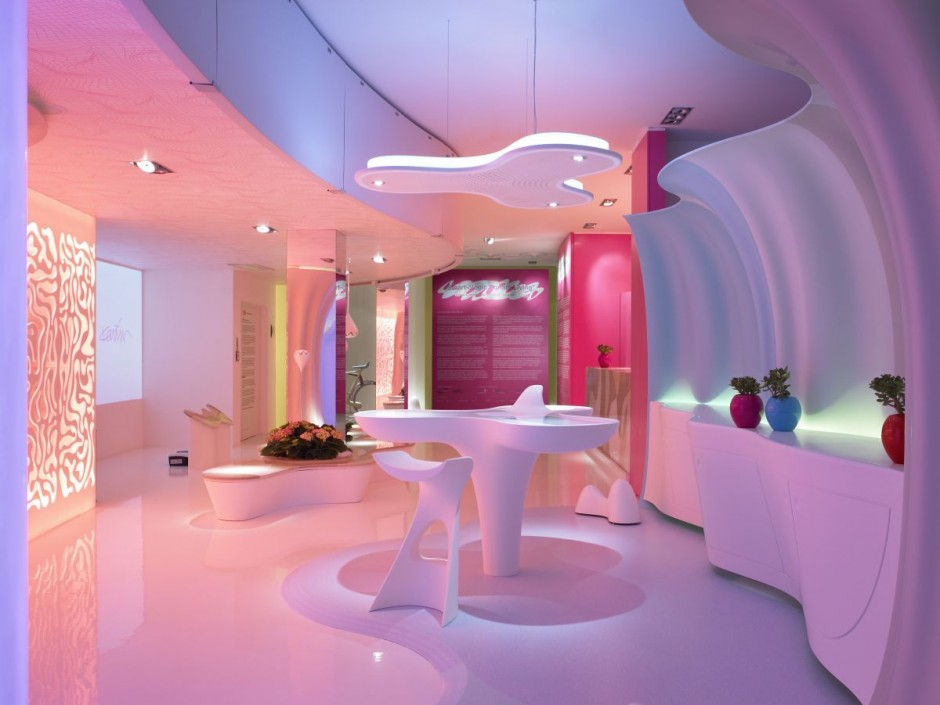 Living room interior design by karim rashid for Room design concept