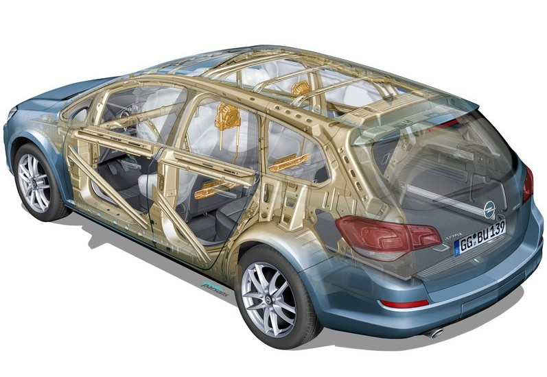 Opel Astra Sports Tourer technical view