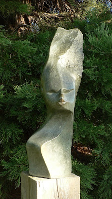 Zimbabwe sculpture, Prague Botanical Garden