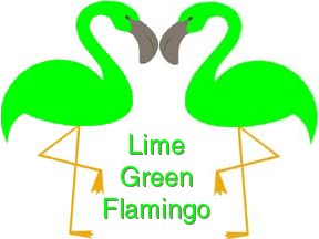 Lime Green Flamingo