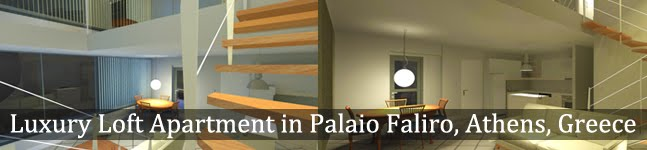 Luxury loft apartment in Palaio Faliro, Athens, Greece