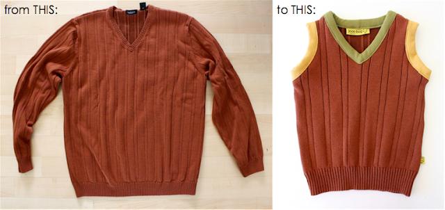 Как сделать из свитера жилетку