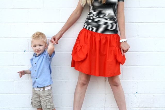 crafts for summer: summer skirt with deep pockets