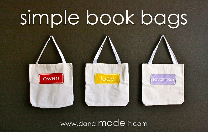 Book Bags MADE EVERYDAY