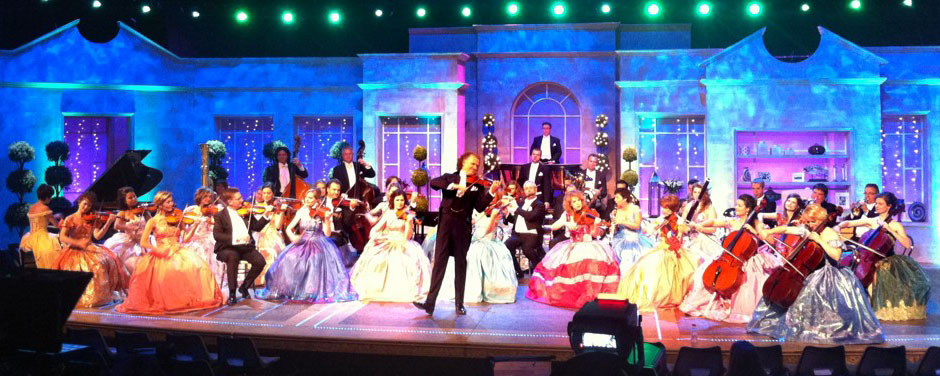 André rieu rehearsing for tour and television appearance london