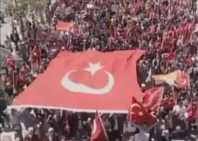 Istanbul Rally [Screenshot from BBC News]