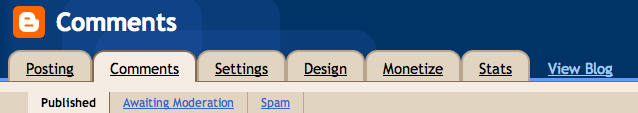 Blogger Automatic Spam Detection