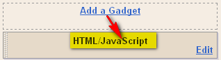 Add A Gadget as HTML JavaScript