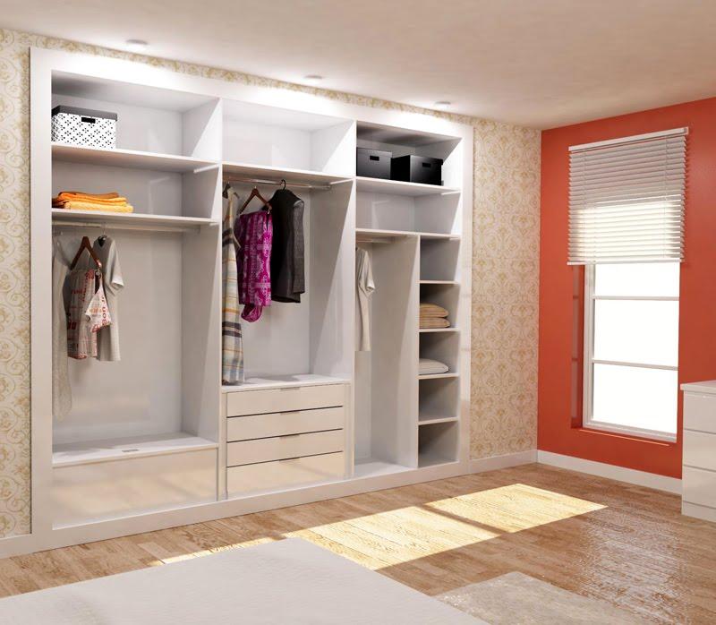 Muebles para ropa sin puertas for Diseno armarios 3d