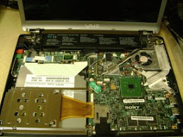 Sony Vaio being taken apart