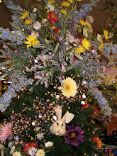A shot of the top of our Easter tree that Melissa decorated.