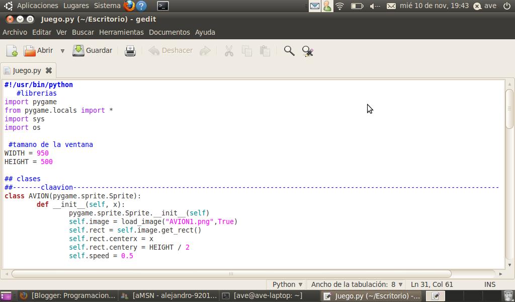 Programacion web y laboratorio de programacion web la libreria pygame en python - Librerias python ...