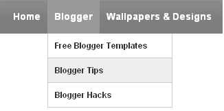 Dropdown Menus in Blogger