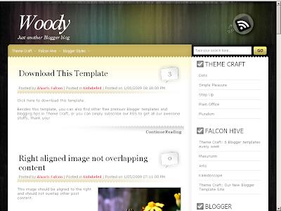Woody Blogger Theme
