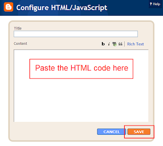Paste the HTML Code Here