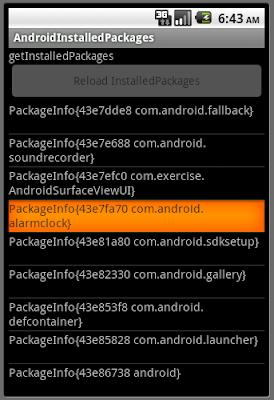 已安裝軟件包(InstalledPackages)信息