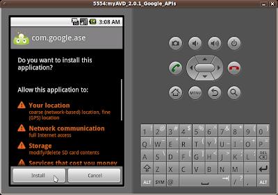 Install ase_r15.apk