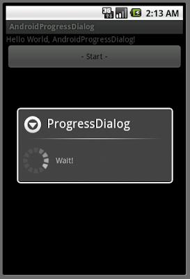 進度對話框(ProgressDialog)