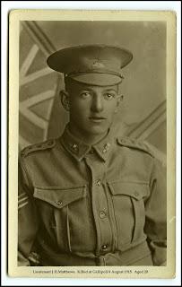 Lt.John Hilbert Matthews Killed at Gallipoli 8 August 1915