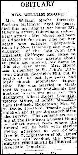 Obituary of Barbara Moore (Hoffmeyer)