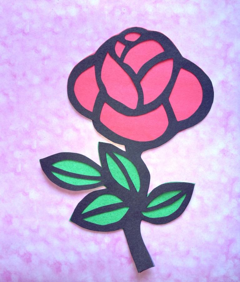 Мастерская цветочной феи: Витраж из цветной бумаги