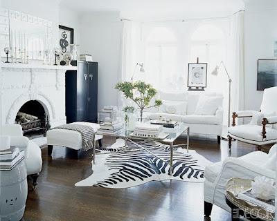 decoração sala de estar branca
