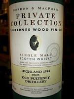 gordon and macphail - old pulteney - sauternes wood finish