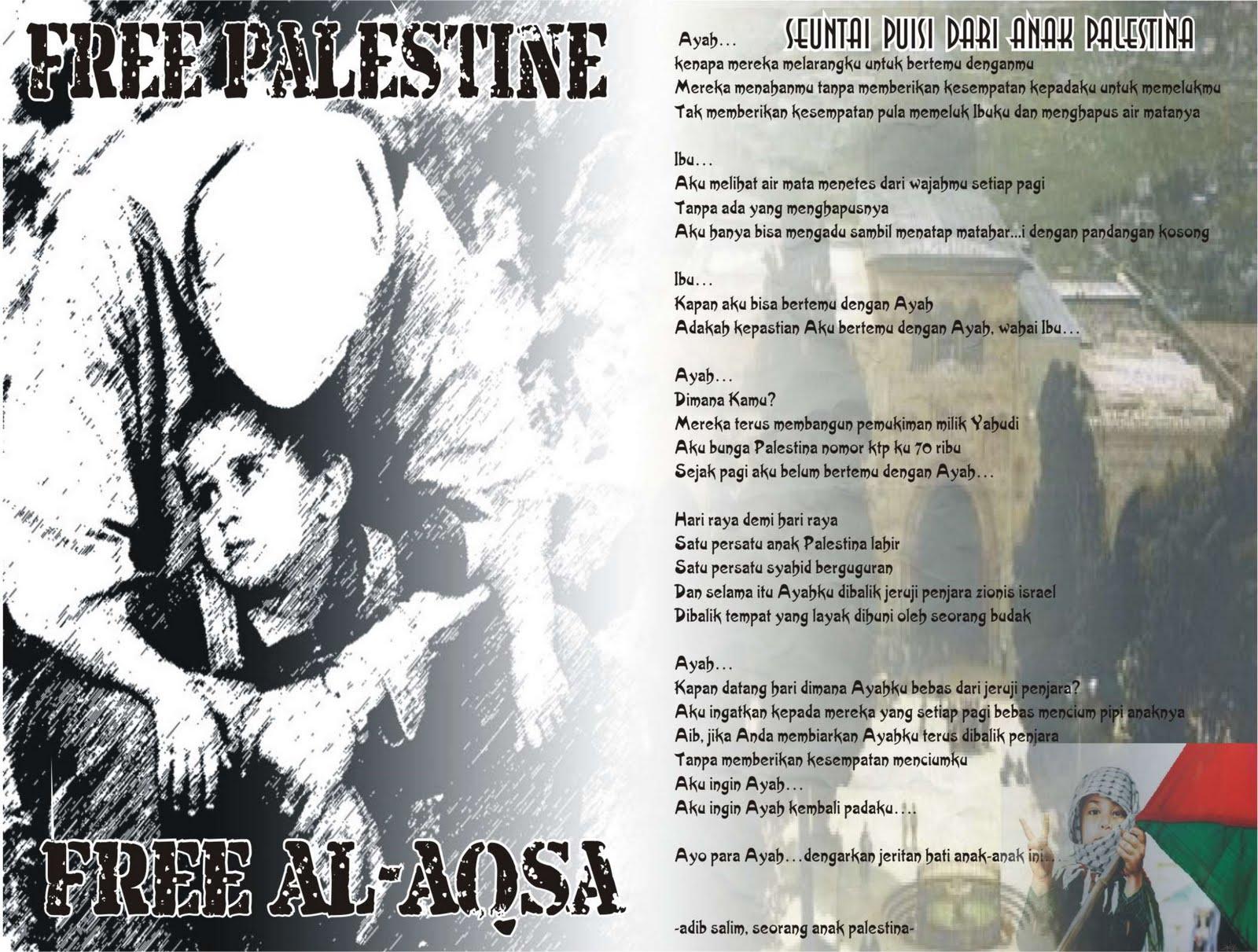 Puisi Seorang Anak Palestina
