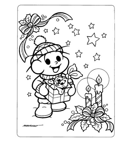 Profª Marcela - atividades: Natal com a turma da Mônica