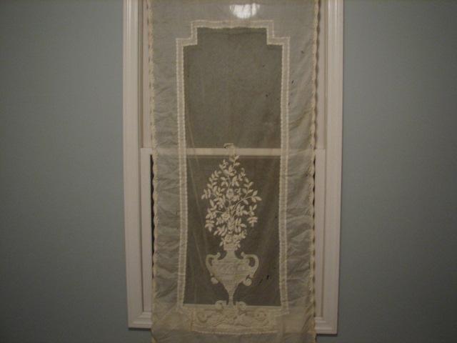 remnants vintage lace curtain