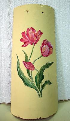 Manualidades tejas pintadas a o 2008 for Pintura para tejas